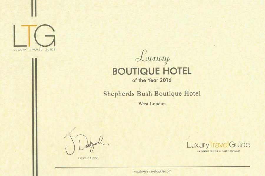 Boutique Hotel Award 2016 1