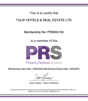 PRS MemberShip Certificate1
